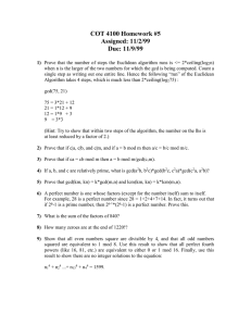 COT 4100 Homework #5 Assigned: 11/2/99 Due: 11/9/99