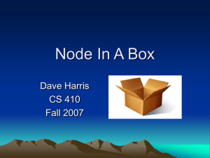 Node In A Box Dave Harris CS 410 Fall 2007