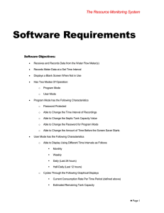 Software Requirements T h e