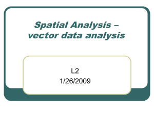 Spatial Analysis – vector data analysis L2 1/26/2009