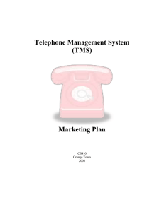 Telephone Management System (TMS) Marketing Plan
