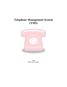 Telephone Management System (TMS)  2008