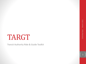TARGT Transit Authority Ride & Guide Toolkit 1 12