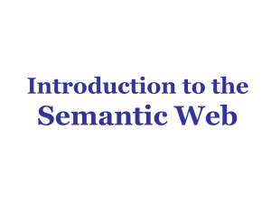 Semantic Web Introduction to the