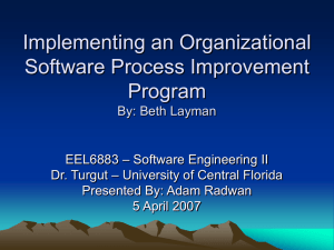 Implementing an Organizational Software Process Improvement Program