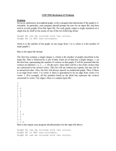 COP 3503 Recitation #3 Problem Problem