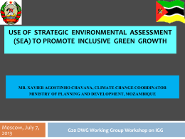 USE OF STRATEGIC ENVIRONMENTAL ASSESSMENT