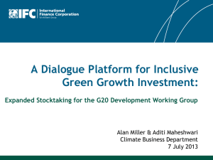 A Dialogue Platform for Inclusive Green Growth Investment:
