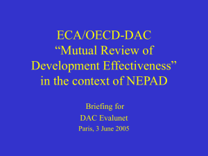 "ECA/OECD-DAC ""Mutual Review of Development Effectiveness"" in the context of NEPAD"