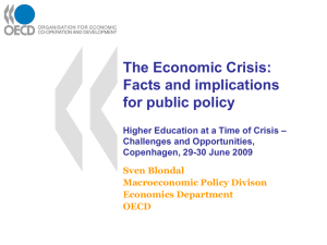 The Economic Crisis: Facts and implications for public policy –