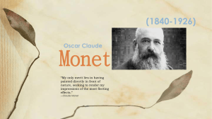 Monet (1840-1926) Oscar Claude