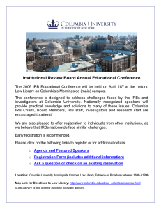 Institutional Review Board Annual Educational Conference