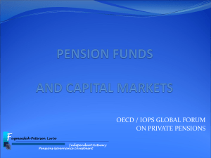 F OECD / IOPS GLOBAL FORUM ON PRIVATE PENSIONS agmeedah Petersen Lurie