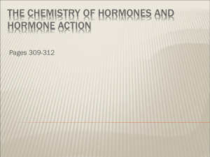 THE CHEMISTRY OF HORMONES AND HORMONE ACTION Pages 309-312