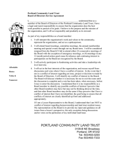 Portland Community Land Trust Board of Directors Service Agreement