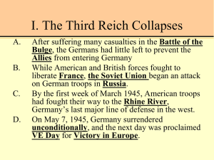 I. The Third Reich Collapses