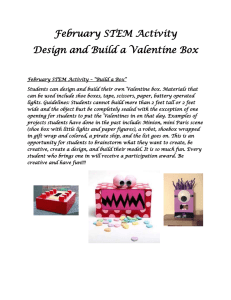 February STEM Activity Design and Build a Valentine Box
