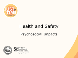 Health and Safety Psychosocial Impacts