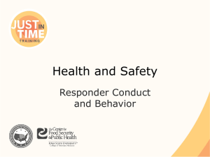 Health and Safety Responder Conduct and Behavior