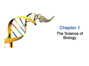 Chapter 1 The Science of Biology Lesson Overview