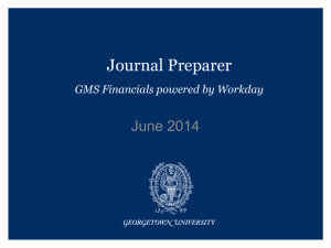 Journal Preparer June 2014 GMS Financials powered by Workday