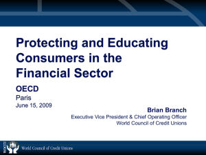 Protecting and Educating Consumers in the Financial Sector OECD
