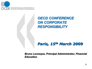 OECD CONFERENCE ON CORPORATE RESPONSIBILITY Paris, 15