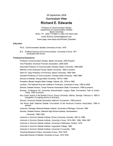 Richard E. Edwards Curriculum Vitae 29 September 2009