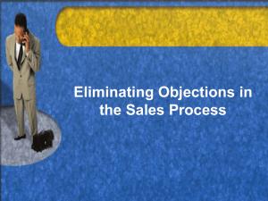 Eliminating Objections in the Sales Process