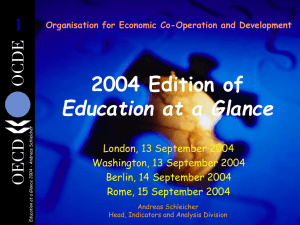 2004 Edition of Education at a Glance 1