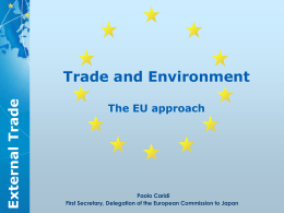 Trade and Environment Trade External The EU approach