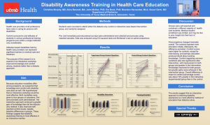 Disability Awareness Training in Health Care Education
