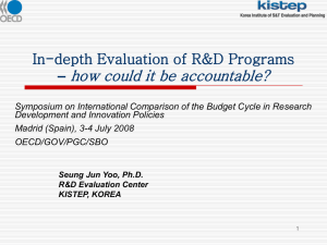 how could it be accountable? In-depth Evaluation of R&D Programs –