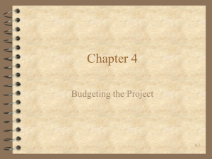 Chapter 4 Budgeting the Project 4-1