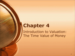 Chapter 4 Introduction to Valuation: The Time Value of Money 0