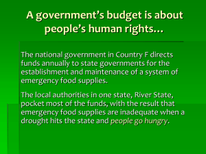 A government's budget is about people's human rights…
