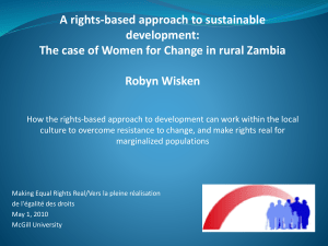 A rights-based approach to sustainable development: Robyn Wisken