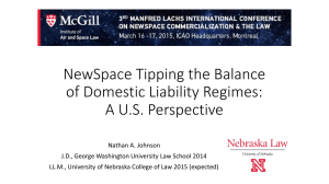 NewSpace Tipping the Balance of Domestic Liability Regimes: A U.S. Perspective