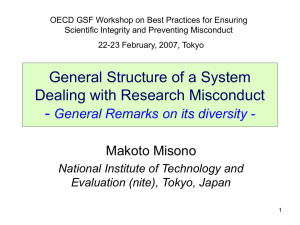 OECD GSF Workshop on Best Practices for Ensuring
