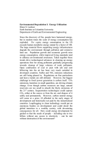 Environmental Degradation I:  Energy Utilization Klaus S. Lackner