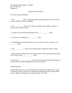 Developmental Psychology – Fall 2001 BC1127 and 1129 Handout #3