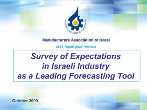 Survey of Expectations in Israeli Industry as a Leading Forecasting Tool October 2009