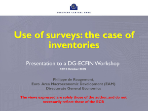 Use of surveys: the case of inventories Presentation to a DG-ECFIN Workshop