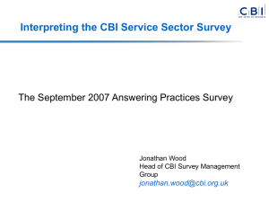 Interpreting the CBI Service Sector Survey  Jonathan Wood