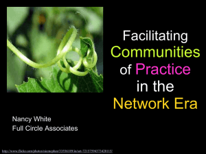 Communities Practice in the Network Era