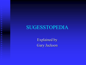 SUGESSTOPEDIA Explained by Gary Jackson