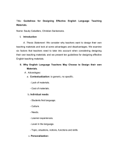 Materials. Guidelines  for  Designing  Effective  English ... Name: Saudy Caballero, Christian Santamaria.