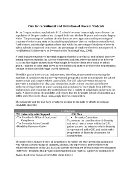 Plan for recruitment and retention of diverse staff for Student retention plan template