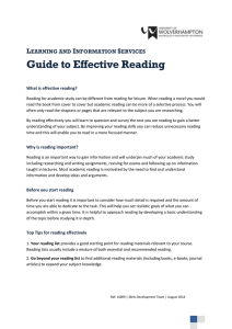 Guide to Effective Reading L I S