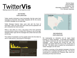 KEYWORD EXPLORATION – one tweet at a time. Making sense of the world